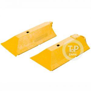Vodící práh žlutý, koncové díly (2ks)